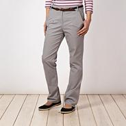 Light grey belted chinos