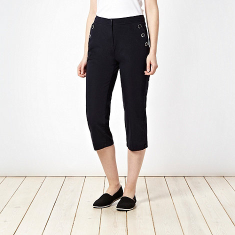 Maine New England - Navy two way stretch cropped trousers - size 20