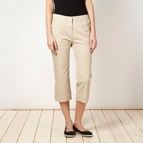 Maine New England - Natural cropped 2-way stretch trousers
