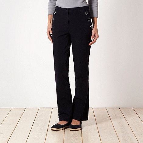 Maine New England - Navy bi stretch button pocket trousers