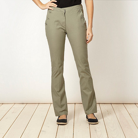 Maine New England - Khaki 2-way stretch trousers