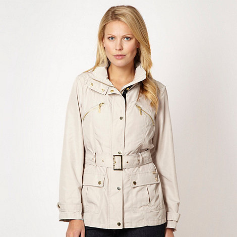 Maine New England - Natural belted lightweight jacket
