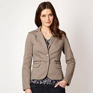 Taupe fitted blazer