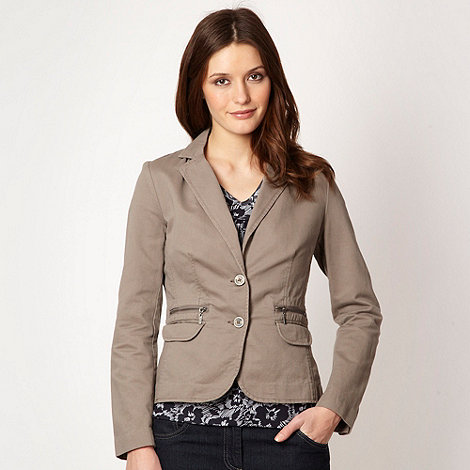 Maine New England - Taupe fitted blazer