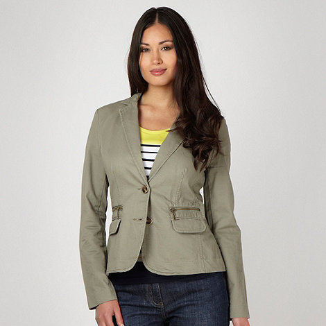 Maine New England - Khaki single breasted blazer