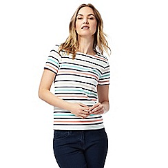 Maine New England - White striped top