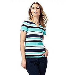 Maine New England - Green striped notch top