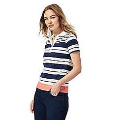 Maine New England - Navy striped top