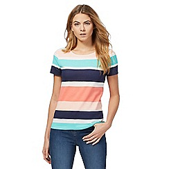 Maine New England - Multicoloured striped print t-shirt
