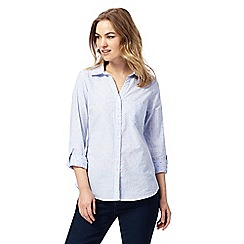 Maine New England - Blue spot embroidered shirt