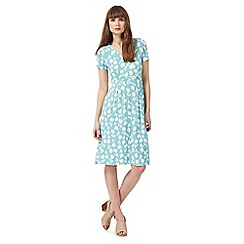 Maine New England - Blue tulip print dress
