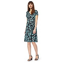Maine New England - Navy tulip print dress