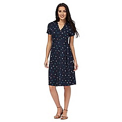 Maine New England - Navy bow print tea dress