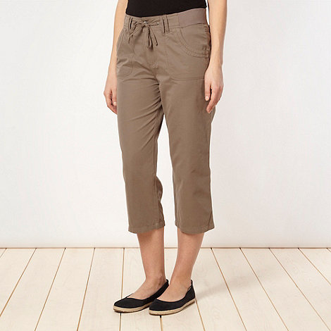 Maine New England - Taupe soft cropped trousers