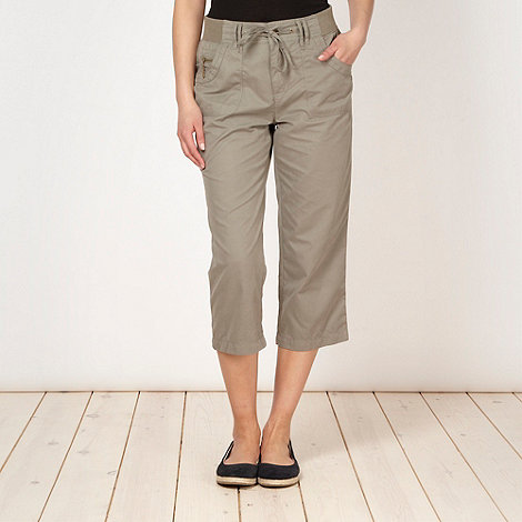 Maine New England - Khaki cropped trousers