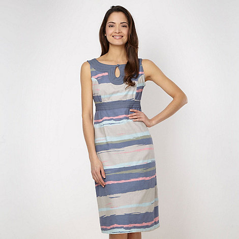 Maine New England - Blue woven striped dress