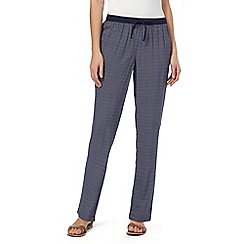 Maine New England - Navy geometric trousers