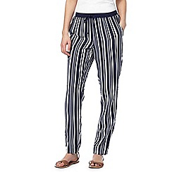 Maine New England - Navy striped tapered trousers