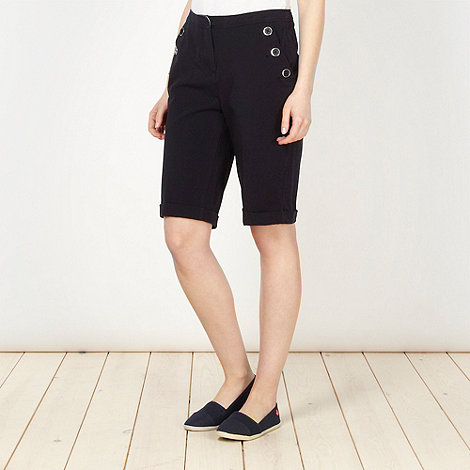 Maine New England - Navy two way stretch shorts