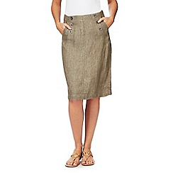 Maine New England - Khaki chambray linen skirt