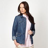Blue chambray button through jacket
