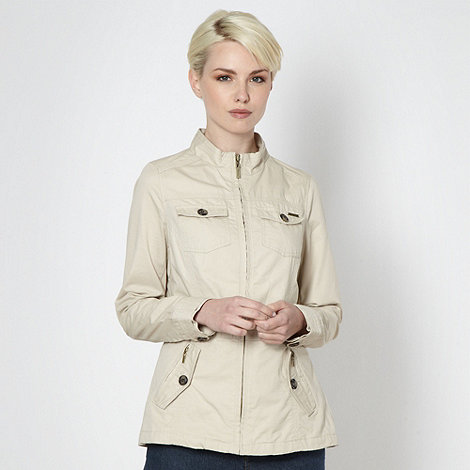 Maine New England - Natural lightweight funnel neck jacket