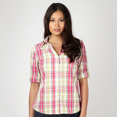 Maine New England - Khaki bold checked shirt
