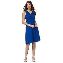 Maine New England - Bright blue pleated dress