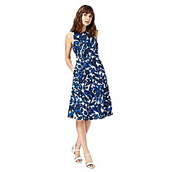 Maine New England - Blue and white floral print dress