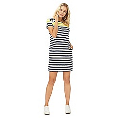 Maine New England - Navy striped shift dress