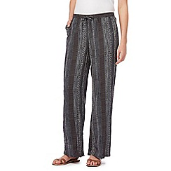 Maine New England - Navy printed wide leg trousers