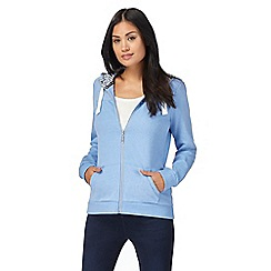 Maine New England - Blue quilted hoodie
