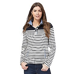 Maine New England - Navy stripe print sweater