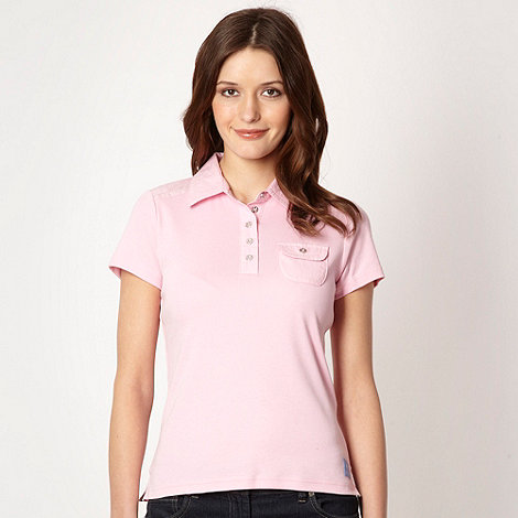 Maine New England - Pale pink woven collar top