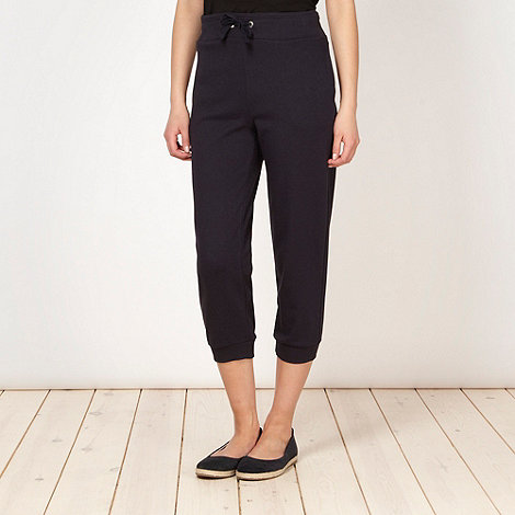 Maine New England - Navy cropped sweat jogging bottoms - size 10