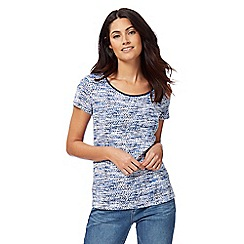 Maine New England - Navy printed top