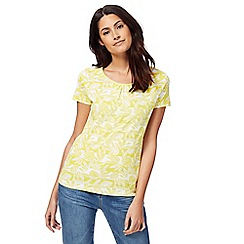 Maine New England - Yellow leaf print top