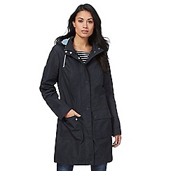Maine New England - Navy shower resistant parka coat