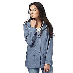 Maine New England - Blue gingham lined jacket
