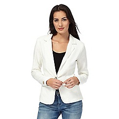 Maine New England - White linen blend blazer