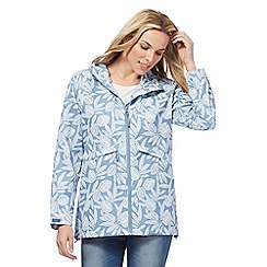 Maine New England - Blue hideaway tropical print jacket