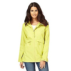 Maine New England - Lime shower resistant hideaway jacket
