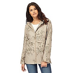 Maine New England - Taupe shower resistant hideaway jacket