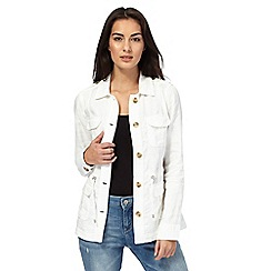 Maine New England - White linen jacket