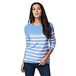 Maine New England - Blue striped chunky knit jumper