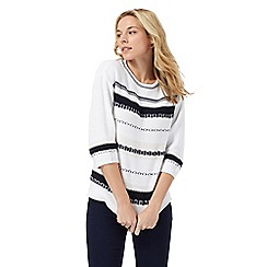 Maine New England - Navy striped jumper