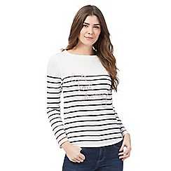 Maine New England - White stripe 'Lets Sail Away' top