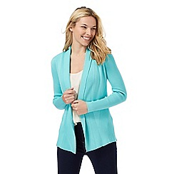 Maine New England - Green edge to edge longline cardigan