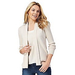 Maine New England - Natural edge to edge longline cardigan