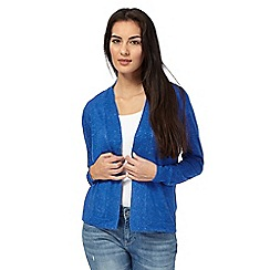Maine New England - Bright blue pointelle knit cardigan